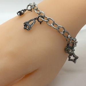 Jewelry - Sterling Silver Christmas Charm Bracelet with Garn